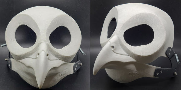 Cut and Hinged Owl Resin Mask Blank