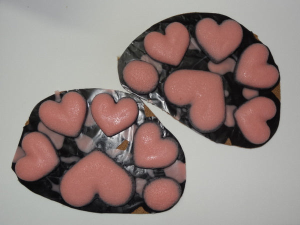 Silicone Heart Handpads