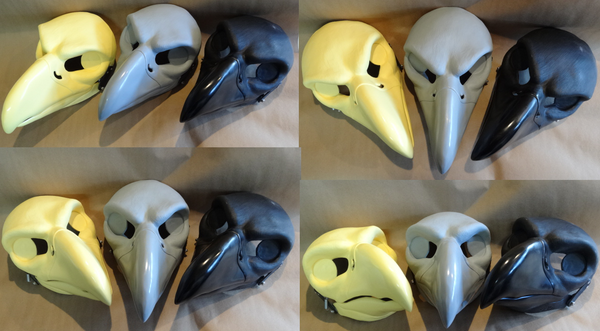 **Limited** Cut and Hinged Large Predator Bird Resin Mask Blank