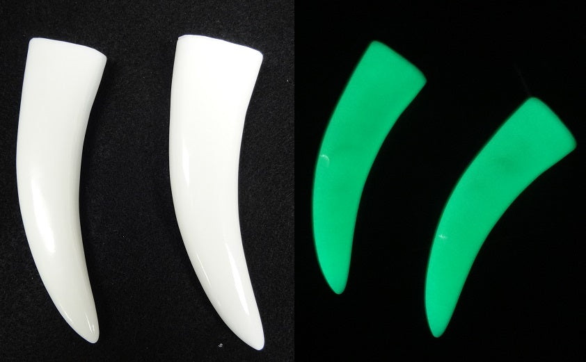 Opaque Glow in the Dark Chibi Saber Teeth *Sold per Tooth*