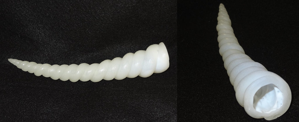 Hollow Semi-Transparent 9 Inch Unicorn Horn