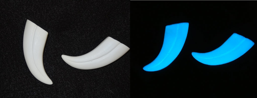 "Glow in the Dark Opaque 2"" Skinny Raptor Claws *Sold per claw*"