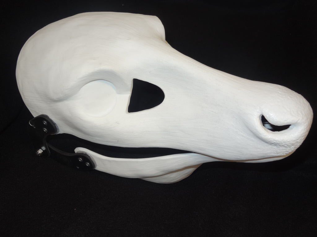 Cut and Hinged Whitetail Doe Resin Mask Blank