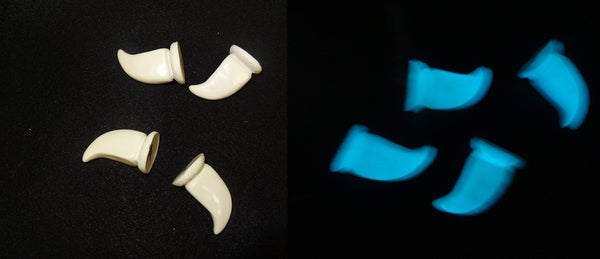 Opaque glow in the Dark Large Feline Claws *Sold per claw*