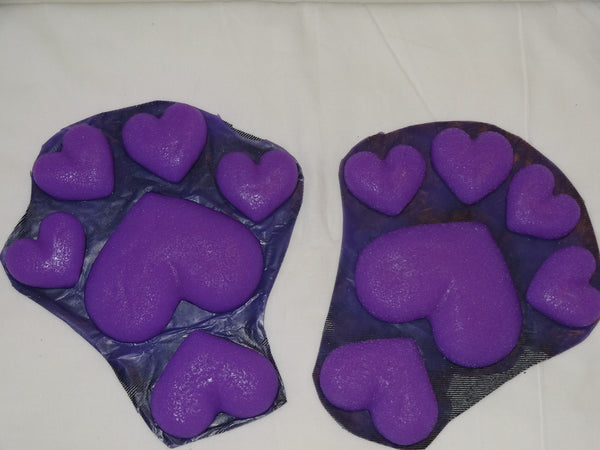 Silicone Heart Feetpads