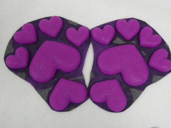 Silicone Glitter Heart Feetpads