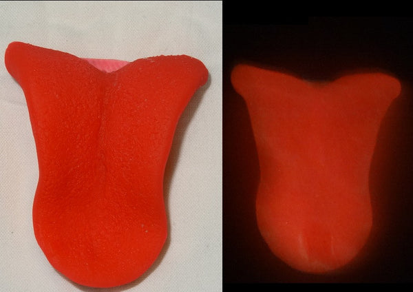Silicone Glow in the Dark Big Cat Tongue