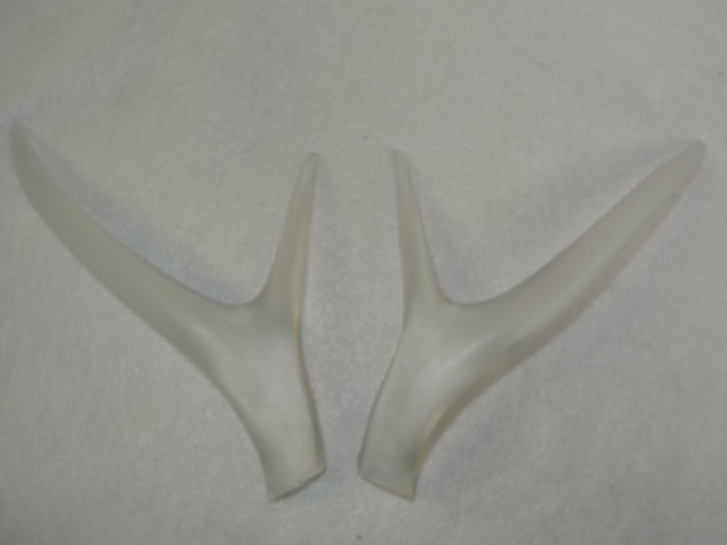 Clear Straight Four Point Deer Antlers