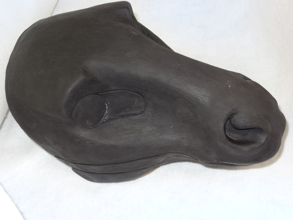 Uncut Large Horse Resin Mask Blank