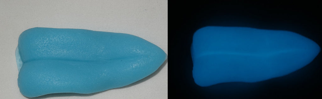 Silicone Glow in the Dark Thin Point Tongue