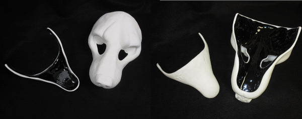 Cut Realistic Small K9 Resin Mask Blank