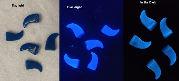 Glow in the Dark UV Small Feline Claws *Sold per claw*