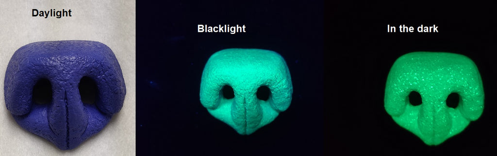 Glow in the Dark Plastic Bear Nose