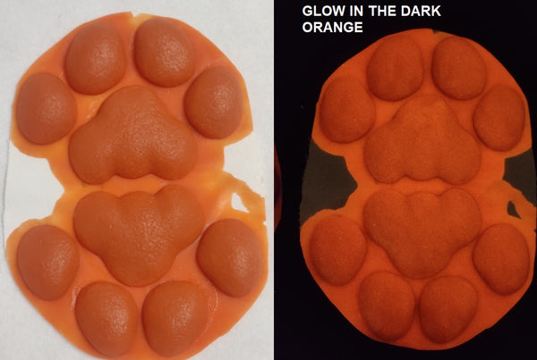 Silicone Glow in the Dark 4 Fingered Anthro No Heels K9 Handpads
