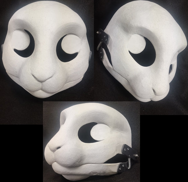 Cut and Hinged Bunny Resin Mask Blank