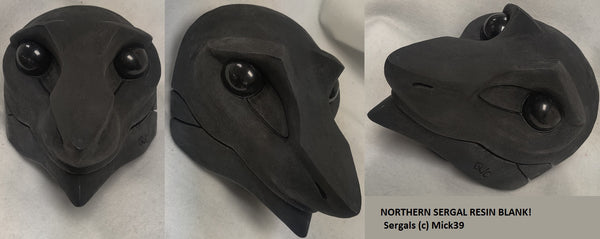 Uncut Eastern Sergal Resin Mask Blank