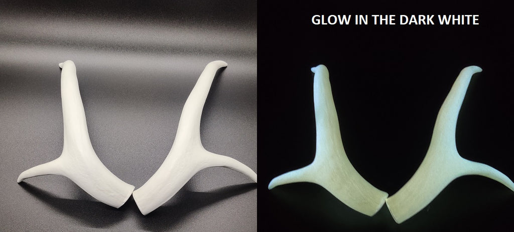 Glow in the Dark Curled Four Point Deer Antlers