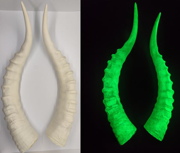 Glow in the Dark Impala Antelope Horns