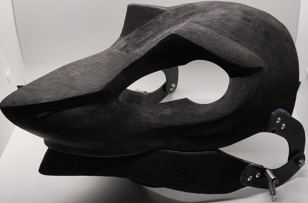 Cut and Hinged Eastern Sergal Resin Mask Blank