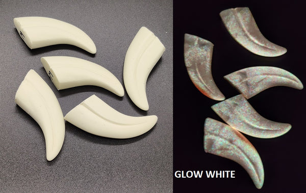 "Opaque Glow in the Dark 1.75"" Skinny Raptor Claws *Sold per claw*"