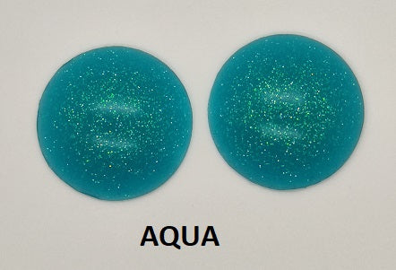 Opaque (blind) Glitter Resin Eye Blanks