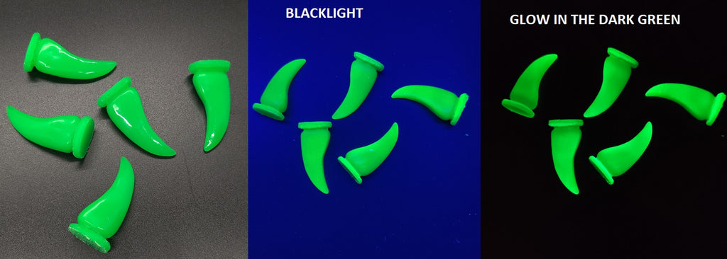 Glow in the Dark UV Bear Claws *Sold per claw*