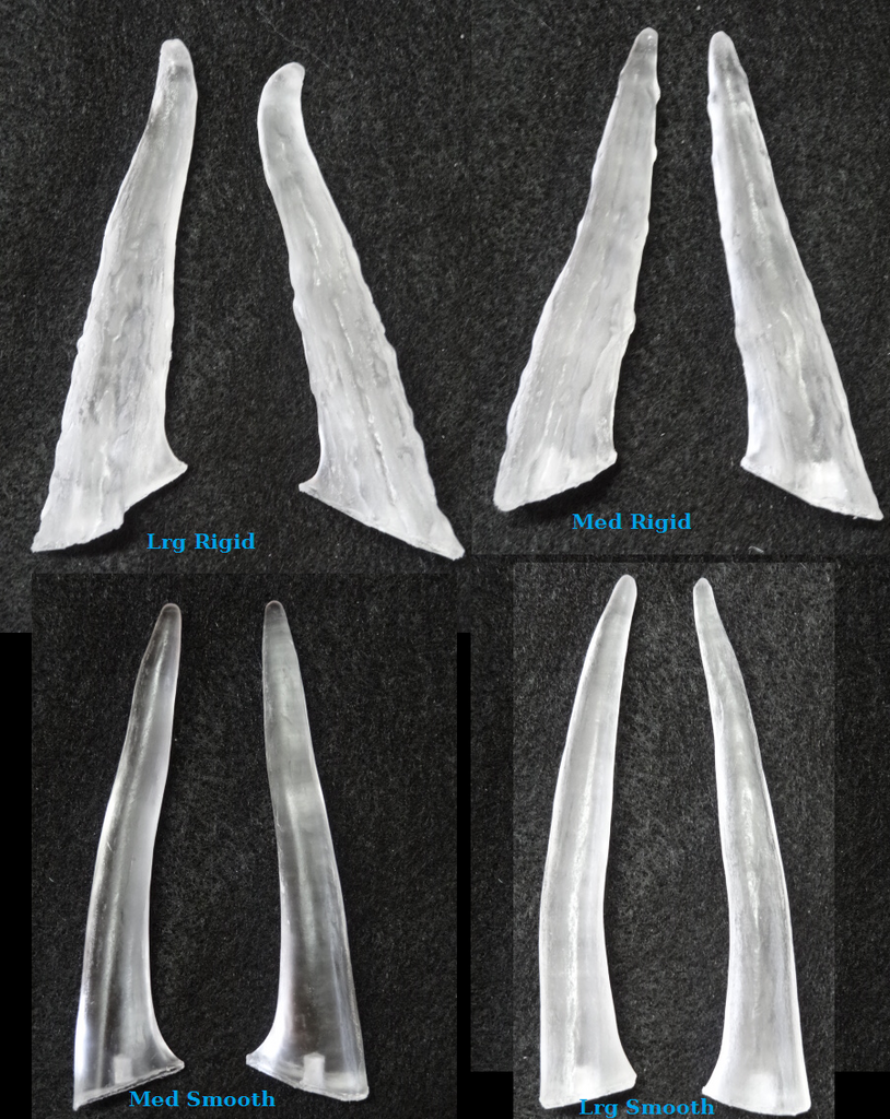 Clear Large Rigid Antler Tips