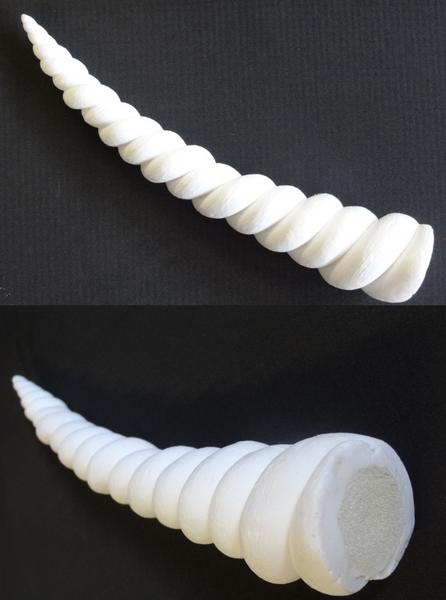 Opaque 9 Inch Unicorn Horn