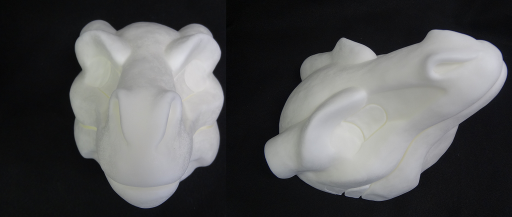 Foam Round Nose Horned Dragon Head