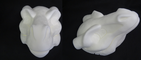 Foam Horned Dragon Head