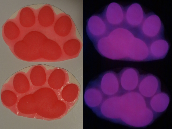 Silicone Glow in the Dark Polar Bear Handpads