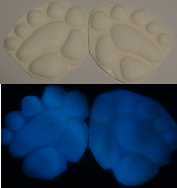 Silicone Glow in the Dark Monster Handpads