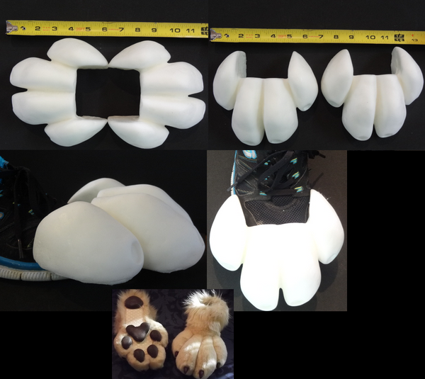Foam Small Canine Toes