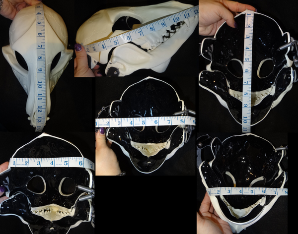 Skeletal K9 Cut and Hinged Mask