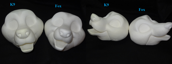 Foam Toony K9 Head
