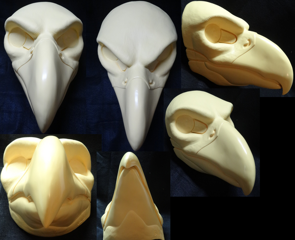 Uncut Large Predator Bird Resin Mask Blank