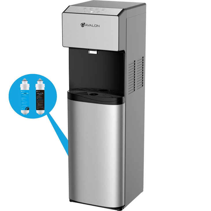 Avalon Electric Bottleless Water Cooler Water Dispenser - 3 Temperatures, UV Cleaning, 3 Dispensing Volumes