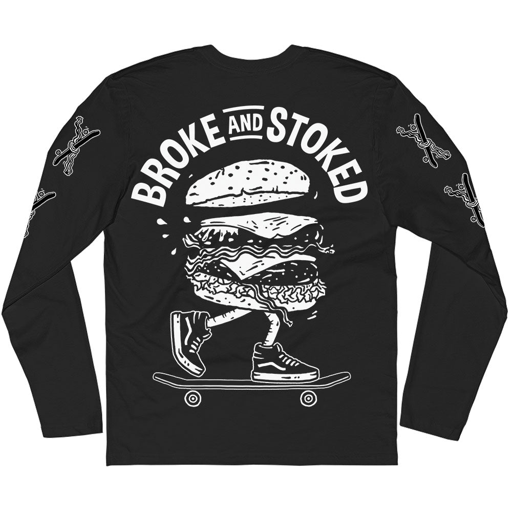 Burger Skate - Black Long Sleeve