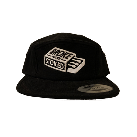 Broke And Stoked Match book 5 Panel Hats