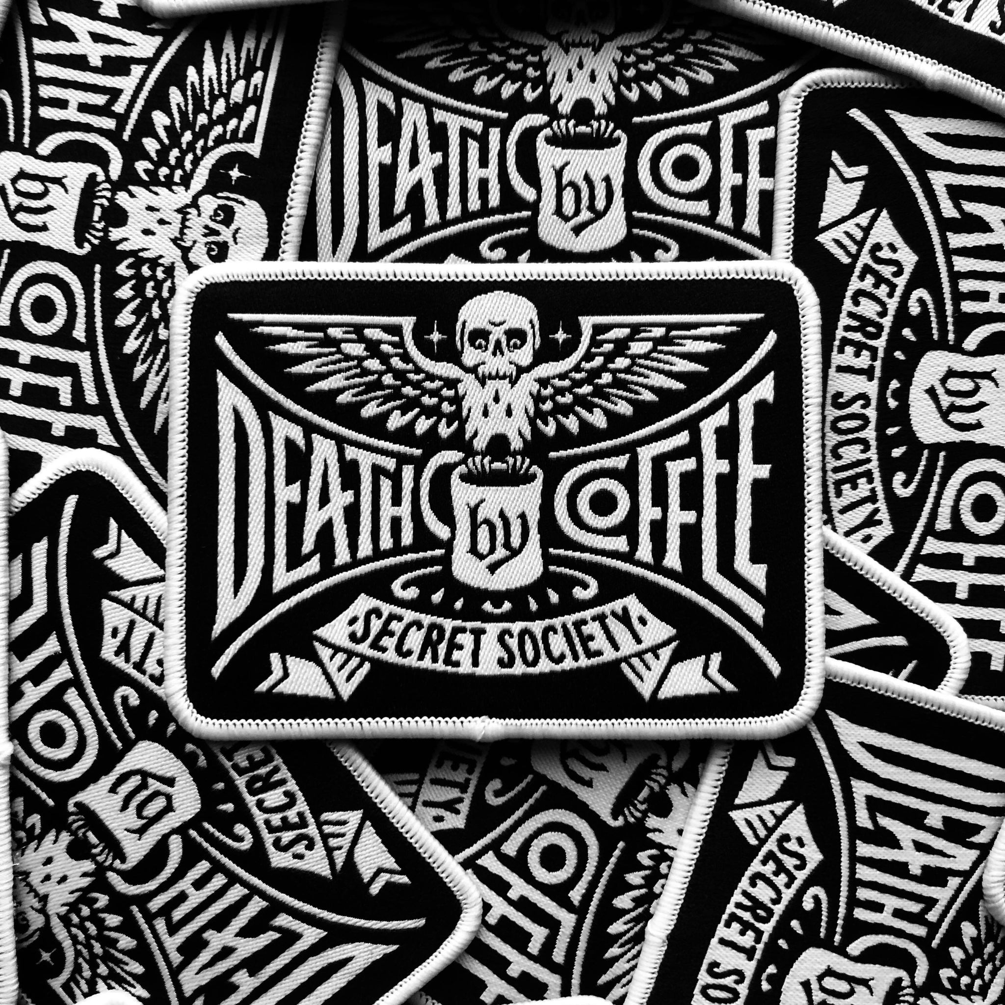 Death By Coffee - Secret Society Patch