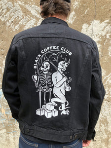 Black Coffee Club -  Trucker Denim Jacket