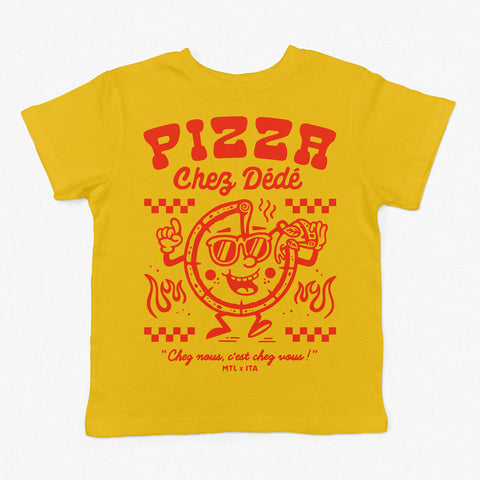 Pizza Chez Dédé - Yellow Tee for Toddler