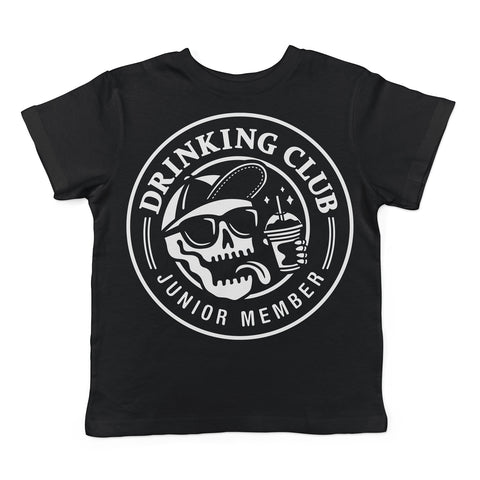 DRINKING CLUB JUNIOR MEMBER - TODDLER & YOUTH BLACK TEE