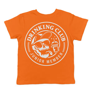 DRINKING CLUB JUNIOR MEMBER - TODDLER & YOUTH ORANGE TEE