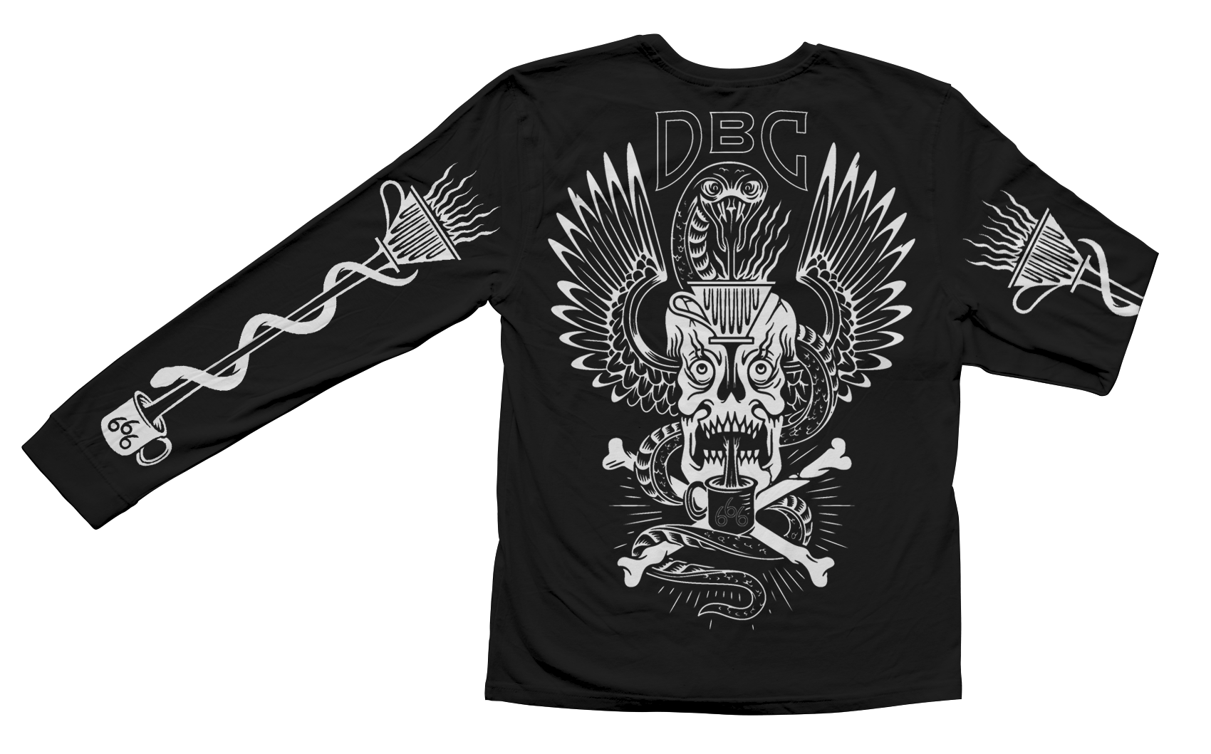 Snake & Skull Coffee Long Sleeve