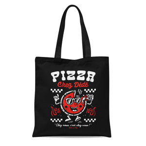 Pizza Chez Dédé - Black Tote Bag