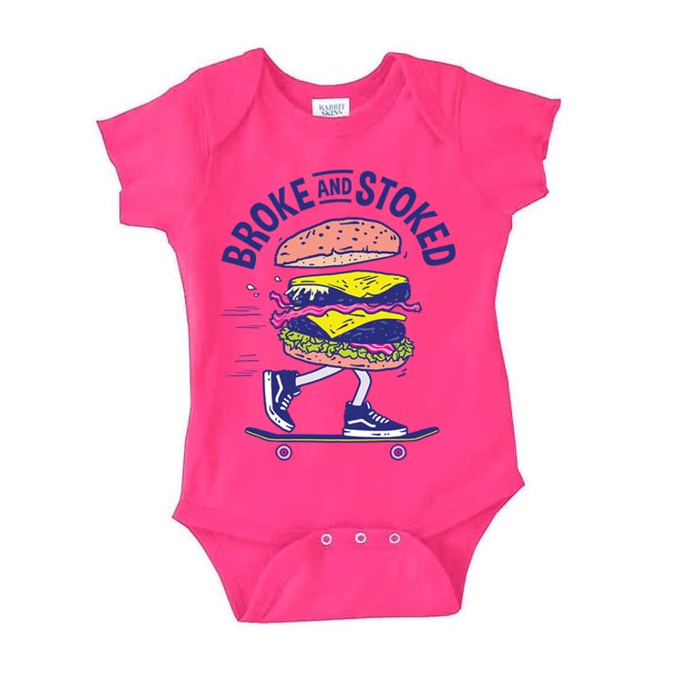 Burger Baby Suit - Pink