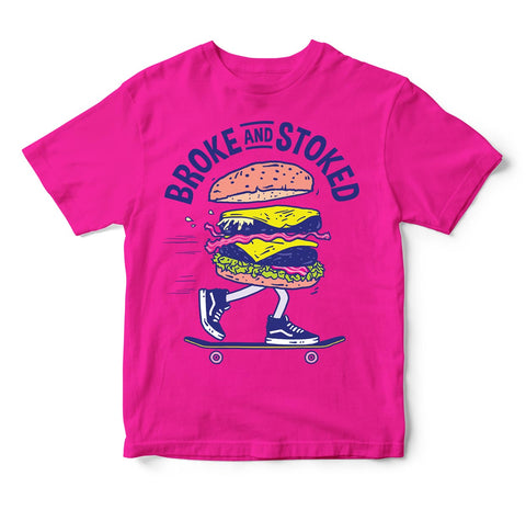 Burger Toddler Tshirt - Pink