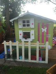 Painted double story playhouse