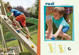 Climbing Wall for wooden climbing frames